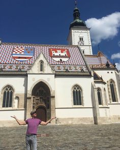 "Duran Duran (@duranduran) on Instagram: ""Mr. SLB visits St Marks Church #duranduran #papergodsontour #croatia #zagreb #touristy"" aug 30 2017"