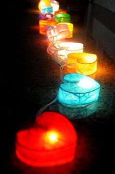 Would be fun to make different little shapes out of tissue paper and wire to string on Christmas lights around th yard for a summer evening party!