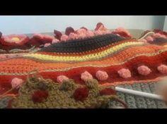 Chal a crochet....MEDIA LUNA DE OTOÑO, 1a parte - YouTube