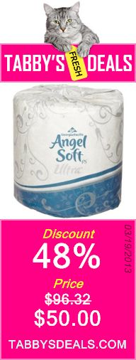 Georgia-Pacific Angel Soft ps Ultra 16560 White 2-Ply Premium Embossed Bathroom Tissue, 4.05 Length x 4.5 Width (Case of 60 Rolls, 400 Sheets Per Roll) $50.00