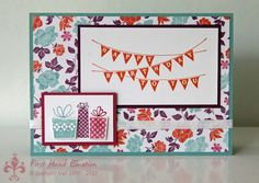Stampin' UP! Patterned Party by First Hand Emotion