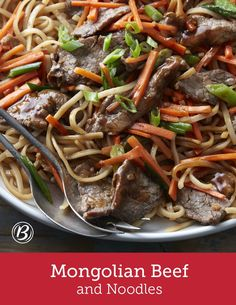 Craving Mongolian Beef? Don't call for delivery! It's so easy to make at home, you'll wonder why you ever got take out. Steak, noodles, veggies and just the right amount of spices come together in one delicious skillet. Expert tip: Wondering why you would freeze the steak beforehand? Freezing it just slightly helps make it easier to slice thinly!