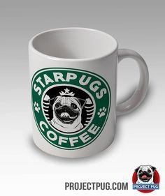 Pug Mug - Starpugs Coffee Mug. So cool! Want one!!!