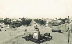 """Uno de los sitios en que se ubicó el conocido """"Caballito"""" Avenida Juárez y Paseo de la Reforma"""