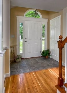 Traditional Entry Photos Floor Tile Design Ideas, Pictures, Remodel, And  Decor