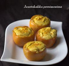 appelsiinejahunajaa: Persimonijuustokakkukupit (sokeriton ja gluteeniton)