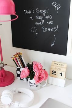 How to Style a Desk 3 Ways: for the Student, the Post-grad & the Career Woman // dorm style Decoration Inspiration, Decor Ideas, Desk Inspiration, Decorating Ideas, Ideas Geniales, Work Desk, Home Office Decor, Office Ideas, Office Furniture