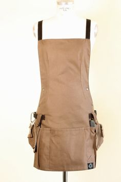 Woman  Work Utility Apron in Brown with Water by EarthWorker, $125.00