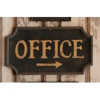 Farmhouse Collection Vintage Office Sign