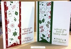 Clean & Simple handmade Christmas Card using Stampin Up's Loads stamp set