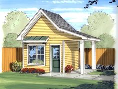 Marilyn Playhouse / Shed Plan 125D-4501 | House Plans and More