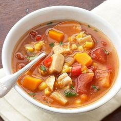 Mexican-Style Turkey Soup - Use GF broth