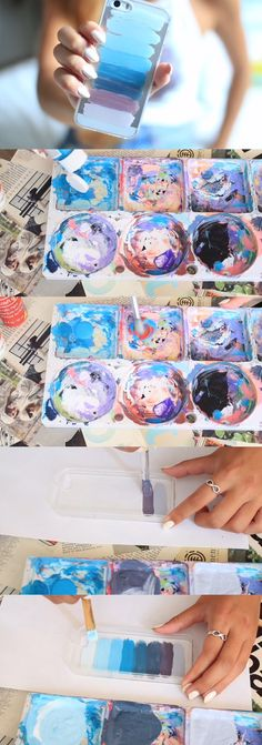 Blue/Purple stripe phone case|LaurDIY