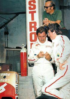 Graham Hill , Jochen Rindt and Colin Chapman(1969)