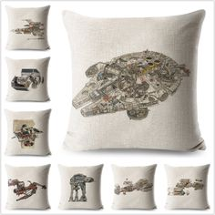 Cartoon Game Star Wars Spaceship Pattern Pillow Case Cartoon Cushion Cover. Star Wars Lover Gifts Ideas For Women/Men/Girls/Boys/Kids. Star Wars Gift Ideas. Star Wars Pillow Cushion Covers Cases For Home Living Room Decor Decorations. #StarWarsLoverGifts #StarWarsGiftIdeas #StarWarsPillowCase #StarWarsPillowCovers #PillowCasesIdeas #PillowCoversIdeas