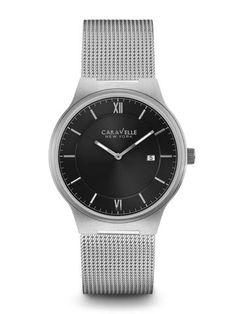 f0619fce7ea Caravelle New York by Bulova Men s Stainless Steel Watch - 45B138K