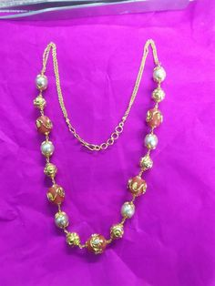 Coral Jewelry, Ruby Jewelry, Beaded Jewelry, 1 Gram Gold Jewellery, Gold Earrings Designs, Pearl Chain, Gold Necklaces, Designer Earrings, Costume Jewelry