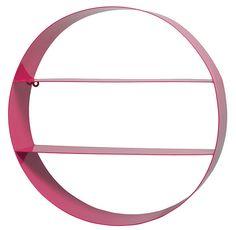 Circle Shelf - Fluro Pink