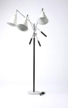 An Arredoluce Triennale Three Arm Floor Lamp On Liveauctioneers