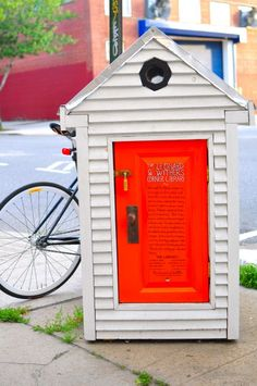 DIY public Corner Libraries with books, CDs and zines operating on the honor system.