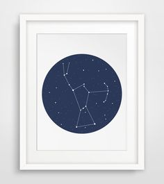 Printable Orion Constellation Art === Print out this modern wall artwork from your home computer or local print shop to style and