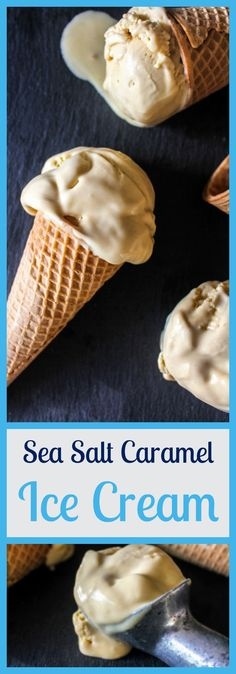 Easy to make, this rich and decadent Sea Salt Caramel Ice Cream is the perfect balance of salty and sweet. Get your ice cream scoop ready! Salted Caramel Ice Cream, Sea Salt Caramel, My Favorite Food, Favorite Recipes, National Ice Cream Month, No Dairy Recipes, Homemade Ice Cream, Summer Treats