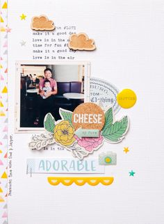 #papercrafting #scrapbook #layout - Hello adorable by evelynpy (1)