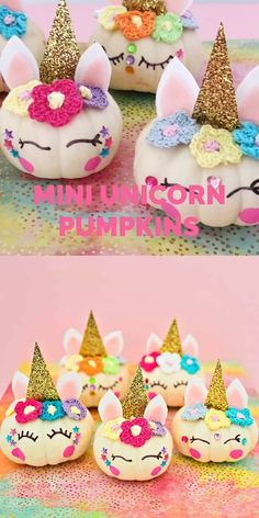 Find out how to make these magical and cute Mini DIY Unicorn Pumpkins. Great no carve pumpkin idea for kids too! Unicorn crafts for kids. Pumpkin crafts for kids Crafts Mini DIY Unicorn Pumpkins Diy Pumpkin, Pumpkin Crafts, Pumpkin Carving, Diy Crafts To Sell, Diy Crafts For Kids, Fun Crafts, Preschool Crafts, Diy Unicorn Birthday Party, Unicorn Pumpkin