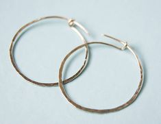 Gold Hoop Earrings 9ct gold handmade hoop earrings light