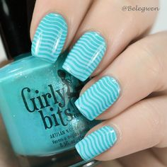 Belegwen: Girlybits Mint-al Precision with ligh blue stamps