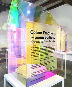 Curator and designer: Sara Garanty Exhibition Stall, Exhibition Display, Museum Exhibition, Display Design, Booth Design, Colors And Emotions, Art Drawings For Kids, Form Design, Merchandising Displays