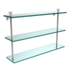 Allied Brass FT522SCH Triple Glass Shelf Satin Chrome ** Click image to review more details.