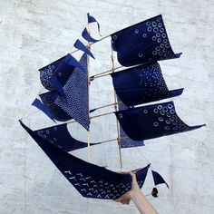 The Ship of Theseus, sailing ship kite via Haptic Lab