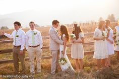 WHITE BRIDESMAIDS DRESSES FROM REAL RUSTIC WEDDINGS