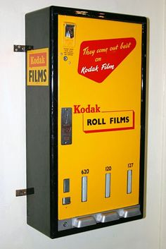 Vintage film vending machine.