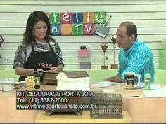 Artesã Marisa Magalhães  - Baú porta jóias  (parte2)