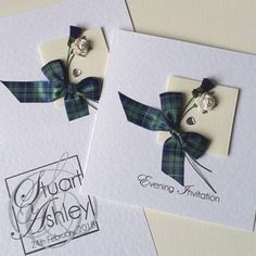 Scottish English wedding invitation - your thistle snuggled up with your rose beneath your choice of tartan bow. Choose your own colours & personalise your wedding insert. Wedding Invitation Images, Invitation Design, Wedding Stationery, Scottish English, Yes To The Dress, White Envelopes, Tartan, Wedding Planning, Wedding Inspiration