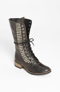 Steve Madden 'Tropador' Boot. I like these boots but I have found Steve Madden shoes to have little to no cushioning and kill my feet in a few hours.