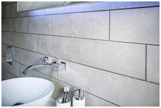 Warehouse white wall and floor tiles add urban chic #tiles #bathroomfurniture #myutopia