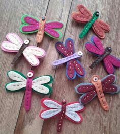 felt dragonflys