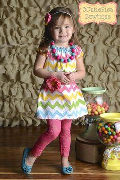 Peasant+dress+Chevron+dress+Easter+dress+by+3cutiepiesbowtique,+$40.00. Abby Easter dress