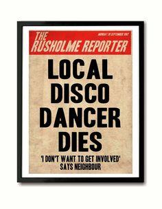 Death of a Disco Dancer print, The Smiths