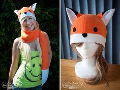 Fox Hat with Tail Scarf by jenniferstuber on deviantART