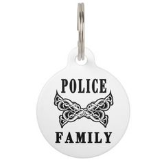 Police Family Tattoos Pet ID Tags