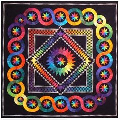 Rainbow Stars Foundation Paper Pieced Quilt Pattern by Jacqueline de Jonge DIY