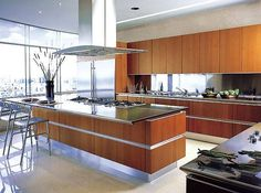 I like the shape of the hood/extraction fan and great clean lines of the cabinetry.