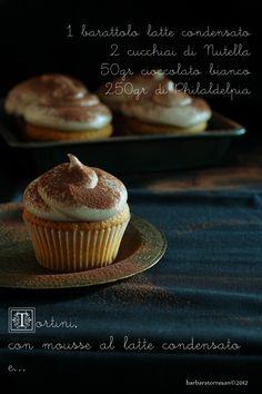 Cupcake alla vaniglia [con mousse al latte condensato e Nutella]