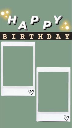 Happy Birthday Template, Happy Birthday Frame, Happy Birthday Posters, Happy Birthday Wallpaper, Birthday Posts, Friend Birthday, Birthday Captions Instagram, Birthday Post Instagram, Creative Instagram Photo Ideas