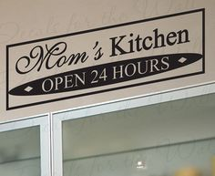 Mom's Kitchen Kitchen Dining Room Home Mother by DecalsForTheWall