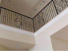 Interior Indoor Wrought Iron Balcony Railings and Designs